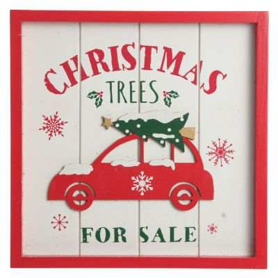 Merry Christmas Trees for Sale Wall Hanging Plaque