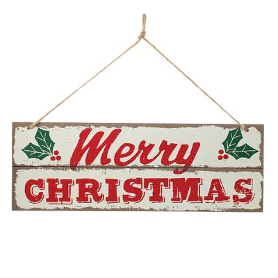Merry Christmas Wooden Christmas Sign