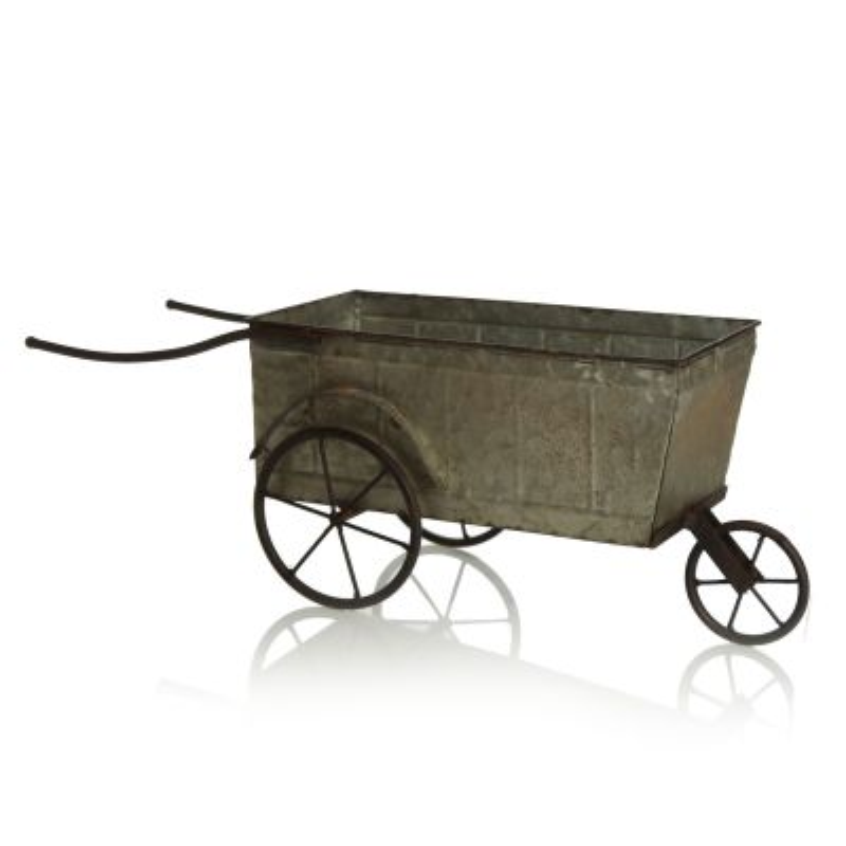Rustic Metal Wheelbarrow