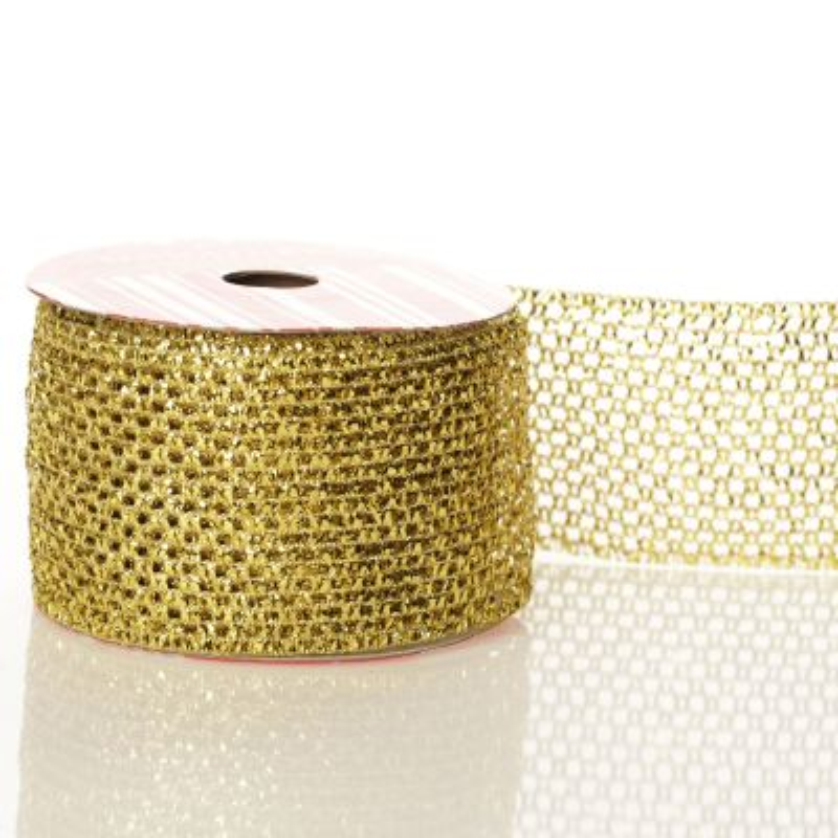 Metallic Gold Wire Mesh Ribbon