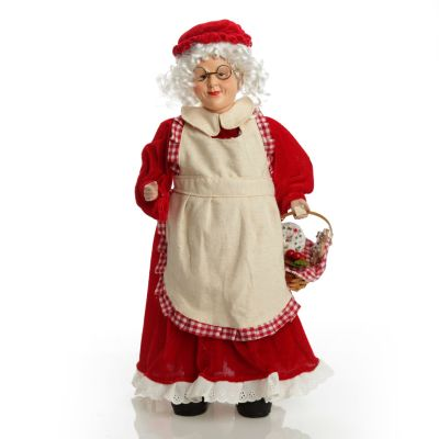 Mrs Claus Ornament with Basket of Christmas Treats