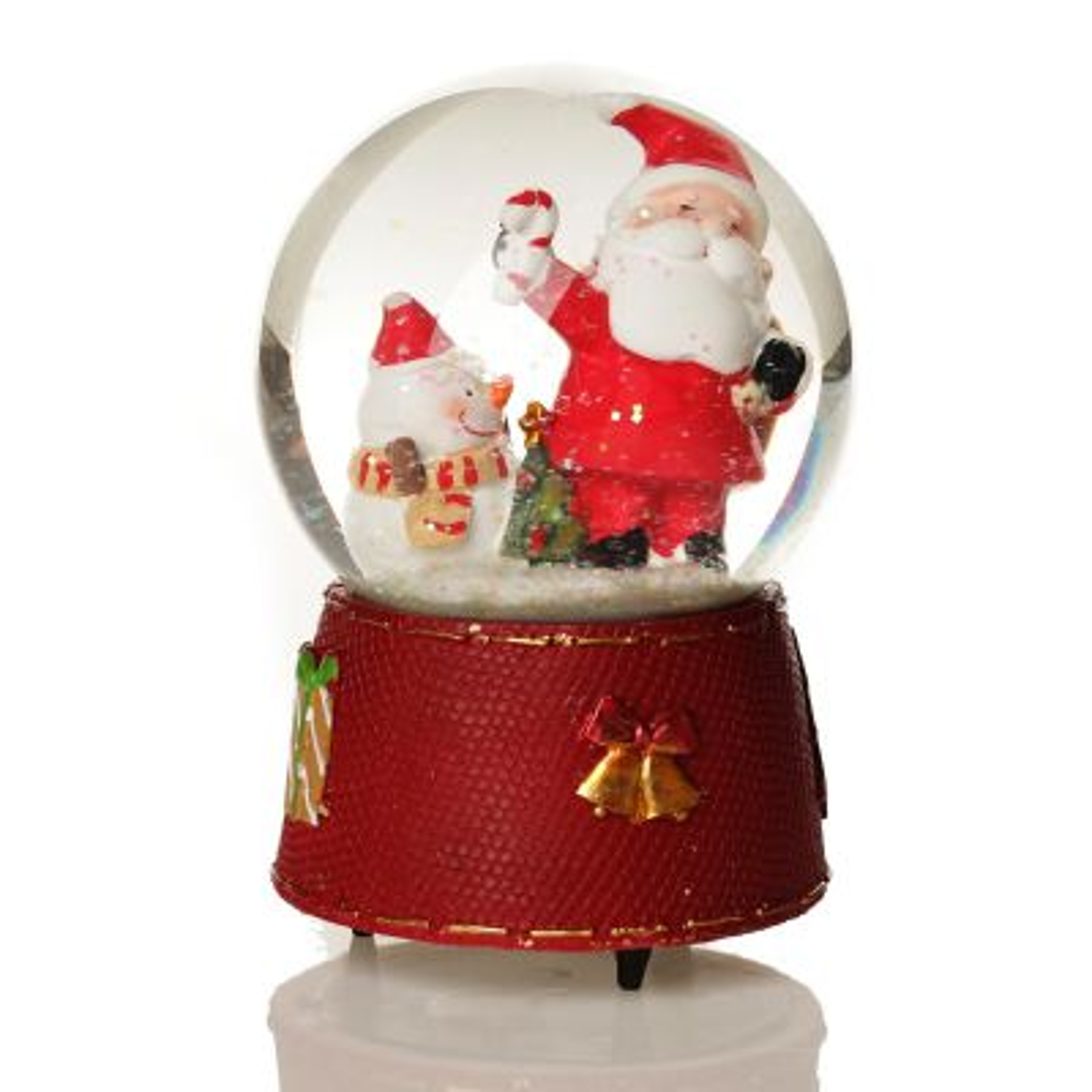 Santa Musical Snowglobe - Red Base