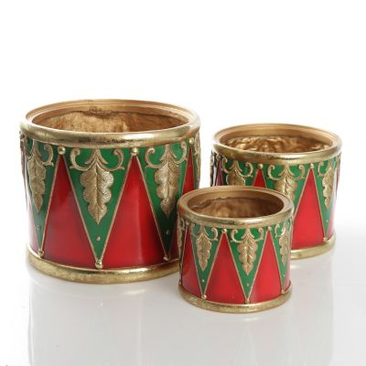 Nutcracker Christmas Drummer Pot