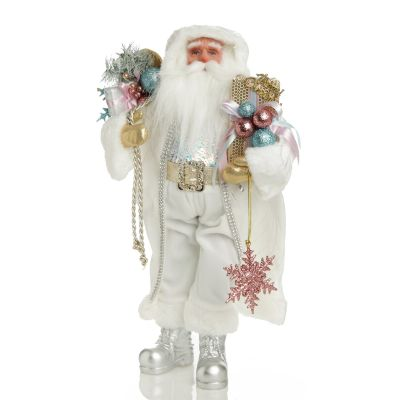 Pastel and White Santa Christmas Ornment Whole Product