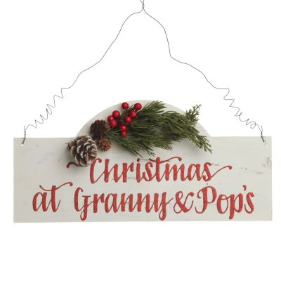 Personalised Arched Country Christmas Wood Plaque with Red Berry