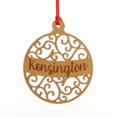 Personalised Bauble Wooden Tree Decoration