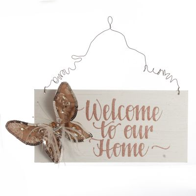 Personalised Boho Butterfly Christmas Wood Plaque