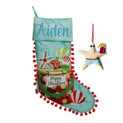 Beach Christmas Stocking and Decoration Pack
