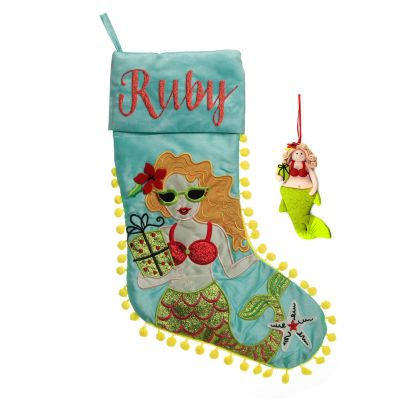 Mermaid Stocking and Decoration Pack