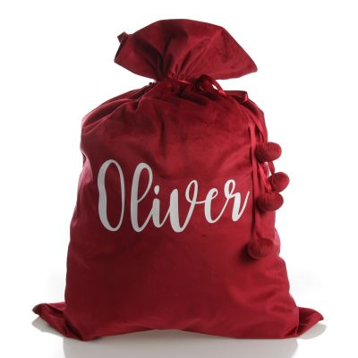 Personalised Red Velvet Santa Sack