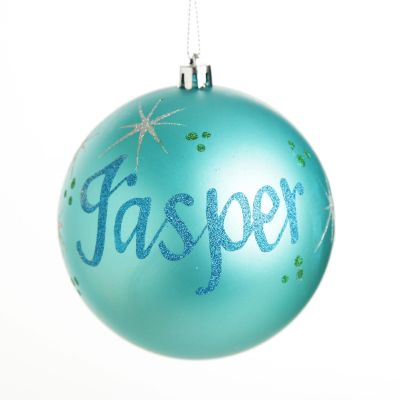 Personalised Sky Blue Christmas Bauble Decoration