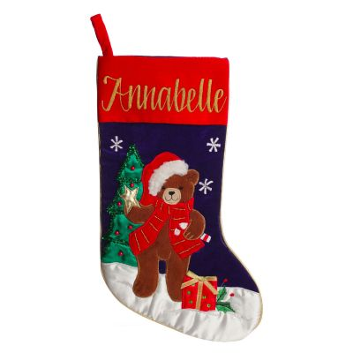 Personalised Teddy Bear Christmas Stocking