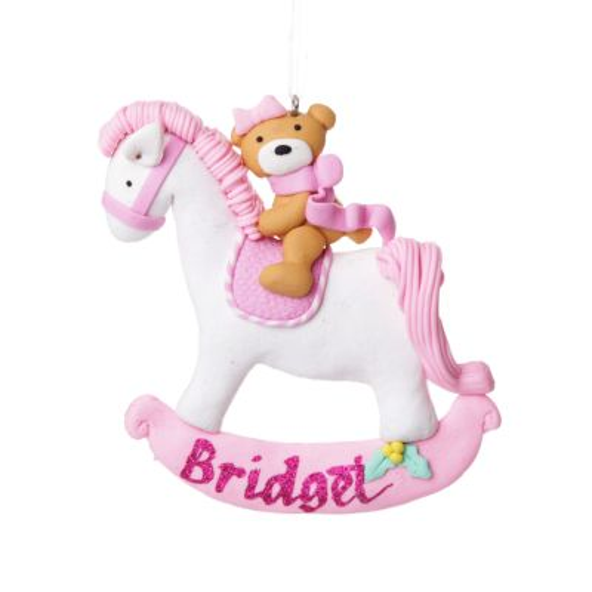Pink Rocking Horse hanging Ornament