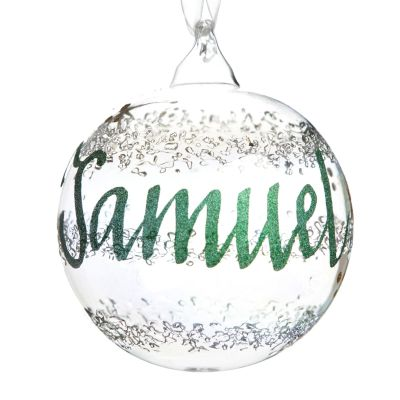 Rainbow Glass Personalised Christmas Bauble