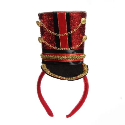 Red and Gold Nutcracker Uniform Top Hat with Headband