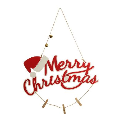 Red and White Wood Merry Christmas Word Plaque