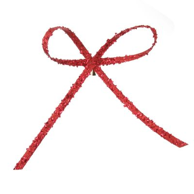 Red Glitter Bow Clip whole product