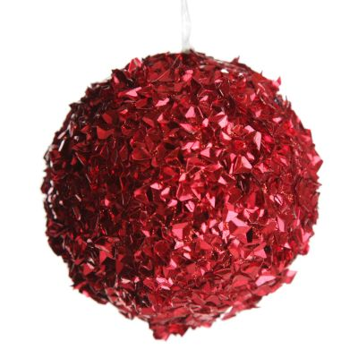 Red-Glitter-Sparkle-Bauble - Large - Whole product