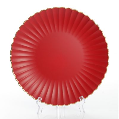 Red with Gold Edging Charger Plate