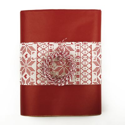 Red Cross Stitch Gift Wrapping Pack
