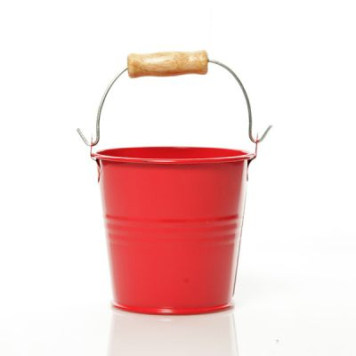 Tin Bucket Red