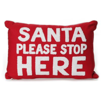 Santa Please Stop Here Cushion Cover whole product