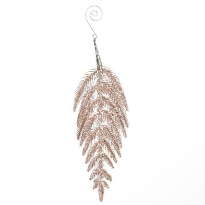 Rose Gold Glitter Branch and Pearls Tree Decoration
