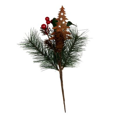 Rusted Tin Tree, Pinecone and Red Berry Pick