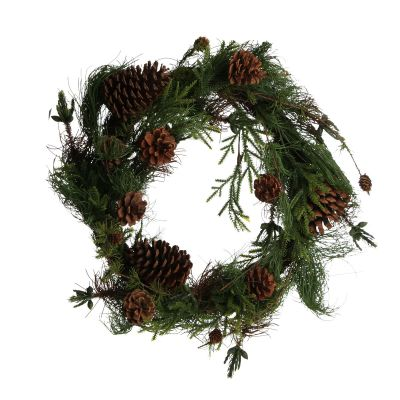 Rustic Pine and Cone Christmas Wreath whole product