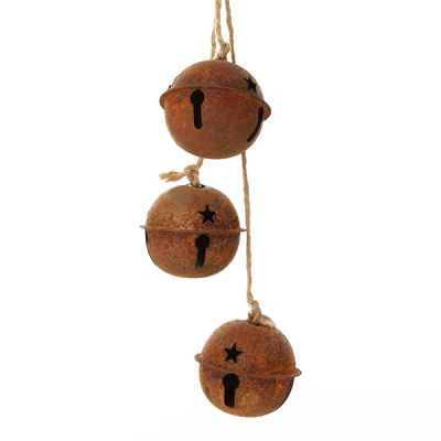 Rusted Bell Trio Ornament