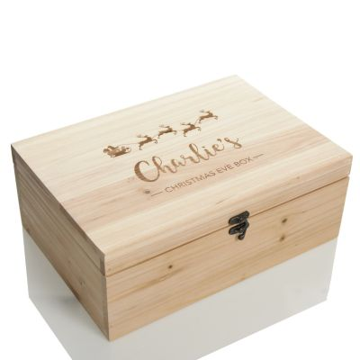 Personalised Santa Sleigh Wooden Christmas Eve Box