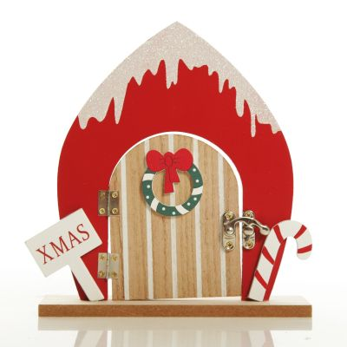 Cute Santa Workshop Elf Door Ornament