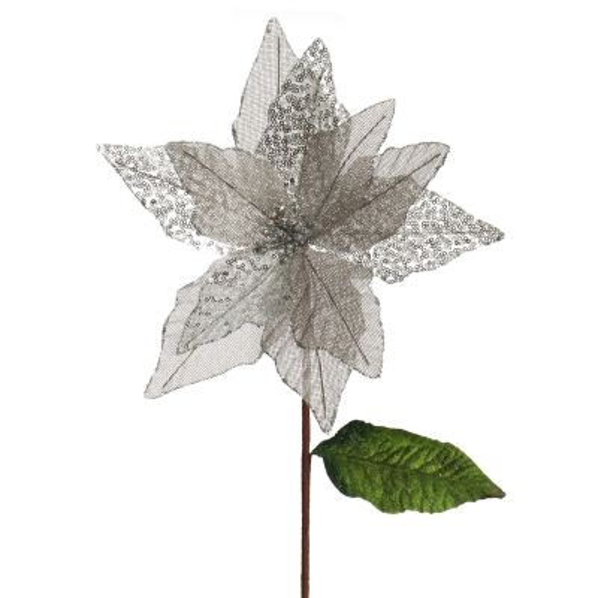 Silver Burlap Sequin Flower whole product