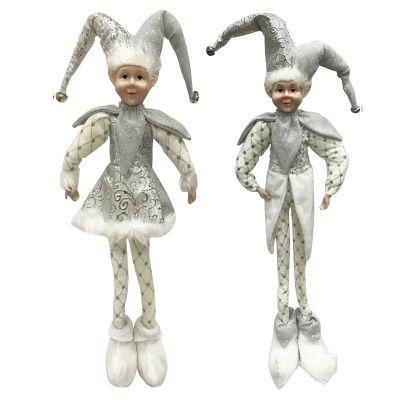 Silver Elf Standing Christmas Ornament