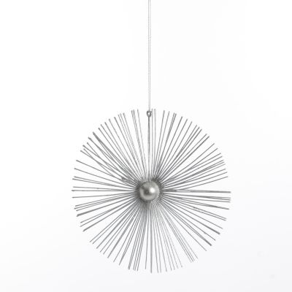 Silver Glitter Sunburst Decoration
