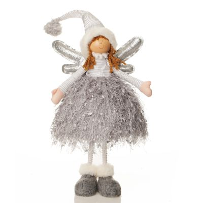 Silver Fabric Standing Angel Whole product