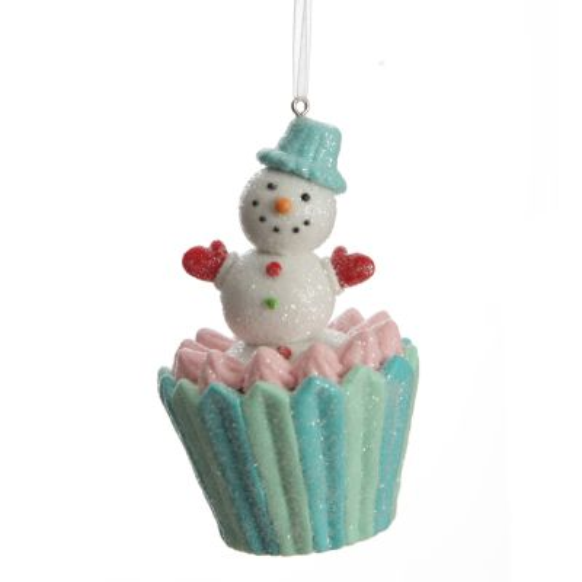Snowman Cupcake Christmas Tree Decoration