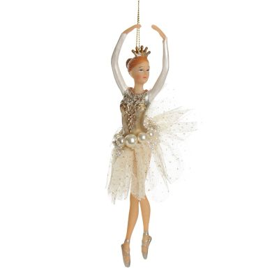 Sweet Ivory and Pearl Ballerina Hanging Tree Decoration Whole product