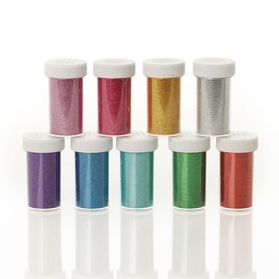 The Christmas Cart Glitter Vial Pack of 9 - Assorted Colours