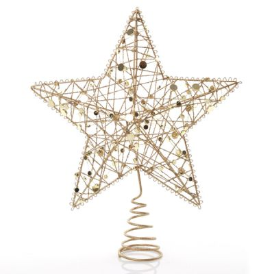 Gold Sequin Tree Topper