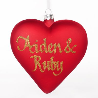 Frosted Red Glass Heart Whole product