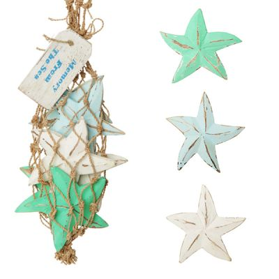 Weathered Wooden Starfish - Bag of 6