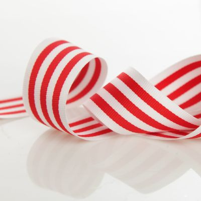 White and Red Candy Cane Ribbon