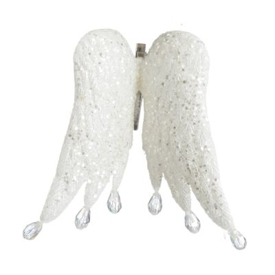 White Angel Wings Christmas Decoration