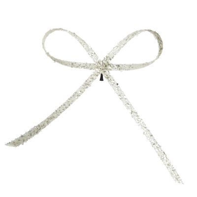 White Glitter Bow Clip Whole product