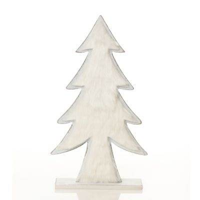 White Washed Wood Tree with White Fur whole product