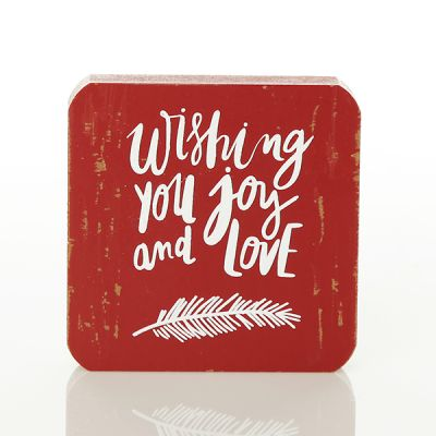 Wishing You Joy and Love Wooden Sign