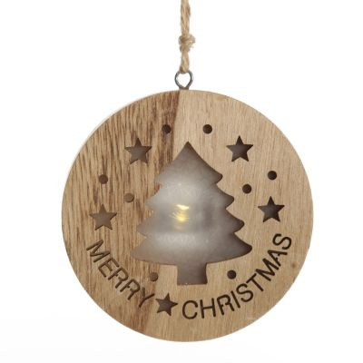 Wooden Lightup Tree Cut out Tree Decoration
