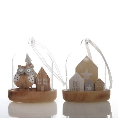 Nordic Glass Dome Decorations - Set of 2