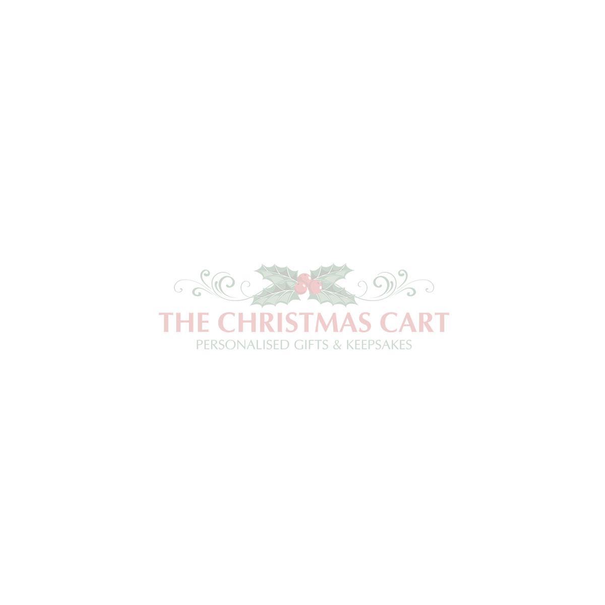 Personalised White Linen Santa Sack Tag with Burlap Piping